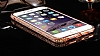 Dafoni Crystal Dream iPhone 6 / 6S Metal Taşlı Bumper Çerçeve Rose Gold Kılıf - Resim 3