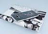 Dafoni Crystal Dream Samsung Galaxy S8 Plus Taşlı İnci Silver Kenarlı Silikon Kılıf - Resim 2