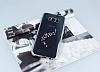 Dafoni Crystal Dream Samsung Galaxy S8 Plus Taşlı İnci Silver Kenarlı Silikon Kılıf - Resim 1