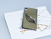 Dafoni Eagle Wings Sony Xperia Z2 Gold Metal Rubber Kılıf - Resim: 2