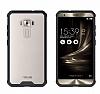 Dafoni Fit Hybrid Asus Zenfone 3 Laser ZC551KL Siyah Kenarlı Şeffaf Kılıf - Resim 3