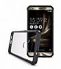 Dafoni Fit Hybrid Asus Zenfone 3 Laser ZC551KL Siyah Kenarlı Şeffaf Kılıf - Resim 4