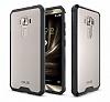 Dafoni Fit Hybrid Asus Zenfone 3 Laser ZC551KL Siyah Kenarlı Şeffaf Kılıf - Resim 1