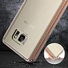 Dafoni Fit Hybrid Samsung Galaxy Note 5 Rose Gold Kılıf - Resim 5
