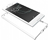 Dafoni Fit Hybrid Sony Xperia XA1 Ultra Şeffaf Kenarlı Şeffaf Kılıf - Resim 4