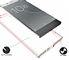 Dafoni Fit Hybrid Sony Xperia XZ Premium Şeffaf Kılıf - Resim 3