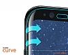 Dafoni General Mobile GM 5 Plus Curve Tempered Glass Premium Full Beyaz Cam Ekran Koruyucu - Resim 3