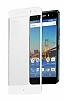 Dafoni General Mobile GM 5 Plus Curve Tempered Glass Premium Full Beyaz Cam Ekran Koruyucu - Resim 6