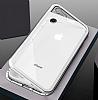 Dafoni Glass Guard iPhone 6 / 6S Metal Kenarlı 360 Derece Koruma Cam Silver Kılıf - Resim 4