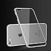 Dafoni Glass Guard iPhone 6 / 6S Metal Kenarlı 360 Derece Koruma Cam Silver Kılıf - Resim 3