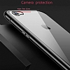 Dafoni Glass Guard iPhone 6 / 6S Metal Kenarlı 360 Derece Koruma Cam Silver Kılıf - Resim 2