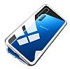 Dafoni Glass Guard Samsung Galaxy A7 2018 Metal Kenarlı Cam Silver Kılıf