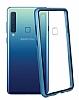 Dafoni Glass Guard Samsung Galaxy A7 2018 Metal Kenarlı Cam Mavi Kılıf