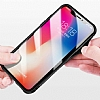 Dafoni Glass Shield iPhone 7 / 8 Beyaz Silikon Kenarlı Cam Kılıf - Resim 5