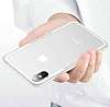 Dafoni Glass Shield iPhone 7 / 8 Beyaz Silikon Kenarlı Cam Kılıf - Resim 1