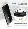 Dafoni Glass Shield iPhone 7 Plus / 8 Plus Siyah Silikon Kenarlı Cam Kılıf - Resim 5