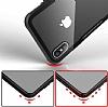 Dafoni Glass Shield iPhone 7 Plus / 8 Plus Siyah Silikon Kenarlı Cam Kılıf - Resim 8