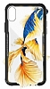 Dafoni Glass Shield iPhone X Siyah Silikon Kenarlı Cam Kılıf - Resim 2