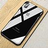 Dafoni Glass Shield iPhone X Beyaz Silikon Kenarlı Cam Kılıf - Resim 7