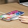 Dafoni Glass Shield iPhone X Beyaz Silikon Kenarlı Cam Kılıf - Resim 6