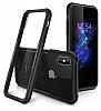 Dafoni Glass Shield iPhone X Siyah Silikon Kenarlı Cam Kılıf - Resim 3