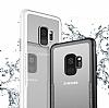 Dafoni Glass Shield Samsung Galaxy A8 2018 Siyah Silikon Kenarlı Cam Kılıf - Resim 4
