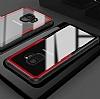 Dafoni Glass Shield Samsung Galaxy A8 2018 Siyah Silikon Kenarlı Cam Kılıf - Resim 2