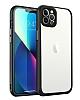 Dafoni Glass Wiev iPhone 13 Pro Max Kamera Korumalı Siyah Cam Kılıf