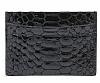 Dafoni Grand Siyah Timsah Gerçek Deri Kartlık Cüzdan - Resim 1