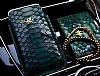 Dafoni Grand Universal Çekmeli Yeşil Timsah Gerçek Deri Kılıf ve Kartlık Cüzdan Set - Resim 1