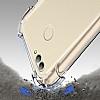 Dafoni Hummer Huawei P Smart Ultra Koruma Silikon Kenarlı Şeffaf Kılıf - Resim 6