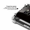 Dafoni Hummer Samsung Galaxy A8 2018 Ultra Koruma Silikon Kenarlı Şeffaf Kılıf - Resim 2