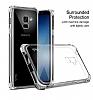Dafoni Hummer Samsung Galaxy A8 2018 Ultra Koruma Silikon Kenarlı Şeffaf Kılıf - Resim 1