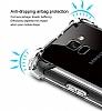 Dafoni Hummer Samsung Galaxy A8 2018 Ultra Koruma Silikon Kenarlı Şeffaf Kılıf - Resim 3