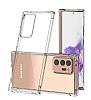 Dafoni Hummer Samsung Galaxy Note 20 Ultra Süper Silikon Kenarlı Şeffaf Kılıf - Resim 4