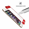 Dafoni iPhone 6 / 6S Curve Tempered Glass Premium Kırmızı Full Cam Ekran Koruyucu - Resim 7