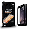 Dafoni iPhone 6 / 6S Curve Tempered Glass Premium Siyah Full Cam Ekran Koruyucu