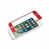 Dafoni iPhone 6 Plus / 6S Plus Curve Tempered Glass Premium Kırmızı Full Cam Ekran Koruyucu - Resim 6