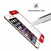 Dafoni iPhone 6 Plus / 6S Plus Curve Tempered Glass Premium Kırmızı Full Cam Ekran Koruyucu - Resim 7