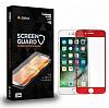 Dafoni iPhone 6 Plus / 6S Plus Full Tempered Glass Premium Kırmızı Cam Ekran Koruyucu