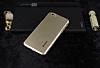 Dafoni iPhone 6 Plus / 6S Plus Metallic Thin Gold Rubber Kılıf - Resim 1