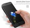 Dafoni iPhone 7 / 8 Curve Tempered Glass Premium Full Siyah Mat Cam Ekran Koruyucu - Resim 2