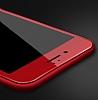 Dafoni iPhone 7 Curve Tempered Glass Premium Kırmızı Full Cam Ekran Koruyucu - Resim 8