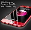 Dafoni iPhone 7 /8 Curve Tempered Glass Kırmızı Cam Ekran Koruyucu - Resim 1