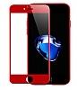 Dafoni iPhone 7 Curve Tempered Glass Premium Kırmızı Full Cam Ekran Koruyucu - Resim 7