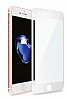 Dafoni iPhone 7 Plus / 8 Plus Curve Tempered Glass Premium Full Beyaz Mat Cam Ekran Koruyucu - Resim 10