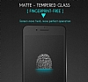 Dafoni iPhone 7 Plus / 8 Plus Curve Tempered Glass Premium Full Siyah Mat Cam Ekran Koruyucu - Resim 3