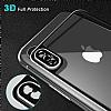 Dafoni iPhone X / XS Ön + Arka Kavisli Metal Kamera Korumalı Şeffaf Cam Ekran Koruyucu - Resim 4