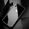 Dafoni iPhone X / XS Ön + Arka Kavisli Metal Kamera Korumalı Şeffaf Cam Ekran Koruyucu - Resim 2