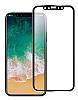 Dafoni iPhone X / XS Ön + Arka Kavisli Metal Kamera Korumalı Şeffaf Cam Ekran Koruyucu - Resim 1